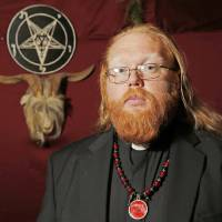Satanist Adam Daniel, who is holding a Satanic Black Mass at the Oklahoma City Civic Center Sunday, Sept. 21, 2014, in his ritual chamber, Friday, Sept. 19, 2014. Photo by Doug Hoke, The Oklahoman