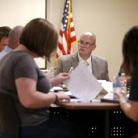 Epic Charter Schools Superintendent Bart Banfield speaks during a school board meeting in Oklahoma City on Aug. 21, 2019. [The Oklahoman Archives]