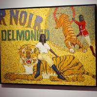 """""""Delmonico Tempts His Cats"""" by O. Gail Poole is shown at the Fred Jones Jr. Museum of Art, on the University of Oklahoma campus in Norman,..."""