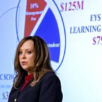 State Auditor and Inspector Cindy Byrd speaks during a press conference for the release of an investigative audit of Epic Charter Schools at the...