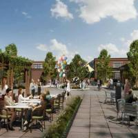 Artist's rendering shows the District at Westbridge Pointe, a commercial development by Neal McGee at 444 W Edmond Road in Edmond. [RENDERING...