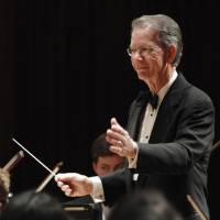 Photo - John E. Clinton conducts for a Winter Concert performance by the Oklahoma Youth Orchestra.