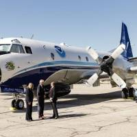 "A P-3 Orion ""Hurricane Hunter"" aircraft will deploy for the next month to the Midwest, chasing supercell storms in hopes of learning more about..."