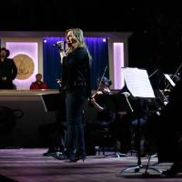 Trisha Yearwood performs on March 4 at the 2020 Library of Congress Gershwin Prize for Popular Song concert honoring her husband, Garth Brooks, at...