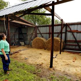 Storms cause damage in Purcell