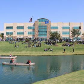 Paycom\'s campus in northwest Oklahoma City has grown to span 500,000 square feet in four...