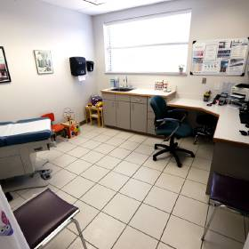An empty exam room is seen at the Cleveland County Health Department in Norman. [Photo by...