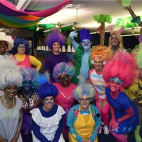 Express Professionals\' risk group goes all out for Halloween. [Photo provided]