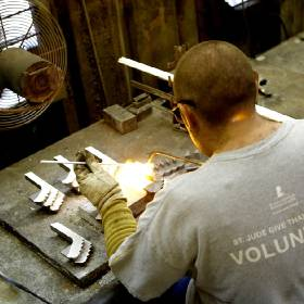 Blake Johnson builds tools at Mills Machine Co. in Shawnee. [Photo by Jackie Dobson, The...