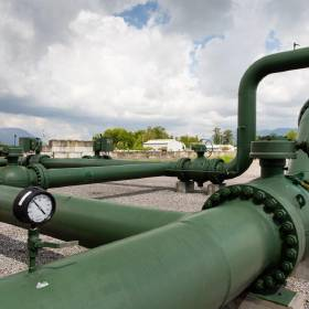 A compressor station in Sumas, Washington, helps power Williams' Northwest Pipeline system....