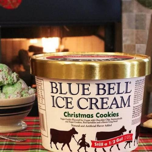 Spread holiday cheer with blue bell s trio of seasonal for Christmas cookie ice cream blue bell