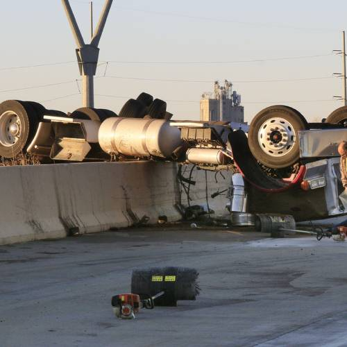 Second crash reported after tractor-trailer overturns on Interstate 40 Friday near I-35