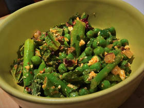 Pea and Asparagus Salad from Lua Mediterranean in The Plaza District. [Dave Cathey/The Oklahoman]