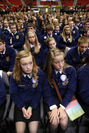 Photo -<br />FFA delegates attend state convention in Oklahoma City in May 2013. The Oklahoman archives<br /> <strong>STEVE SISNEY -<br />THE OKLAHOMAN<br /></strong>
