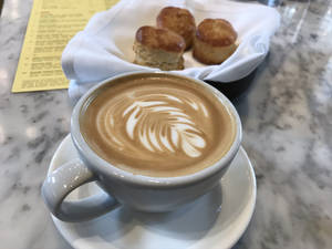 Cappucino and biscuits at The Jones Assembly in Oklahoma City. [Dave Cathey/The Oklahoman]