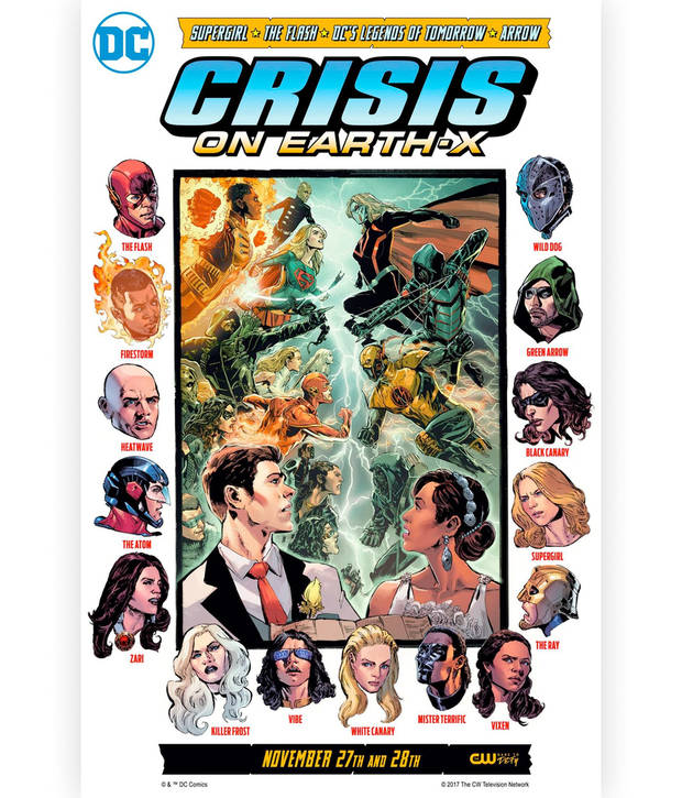 "Promotional art for ""Crisis on Earth-X."""