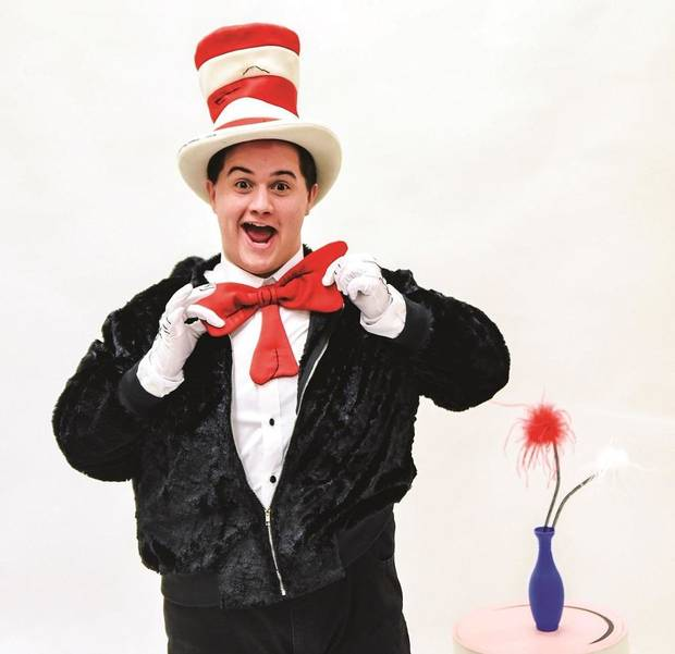 "Josiah Brooks plays the title character in Lyric Theatre's production of Dr. Seuss' ""The Cat in the Hat."" [K. Talley Photography]"