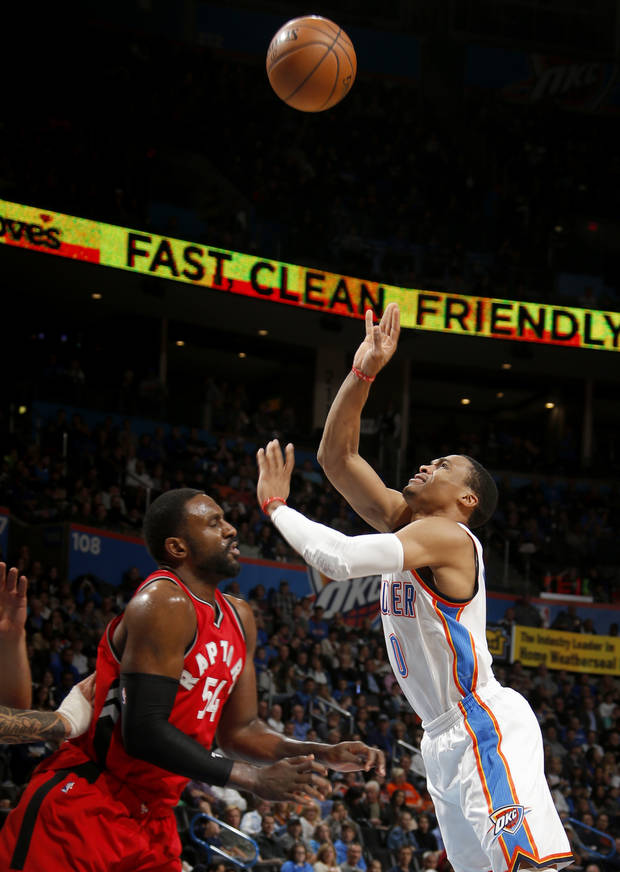 Patrick Patterson Defends Against Rus Westbrook In A From Last November Photo By
