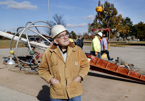 Workers begin dismantling the Space Tower at the state fairgrounds | The Oklahoman
