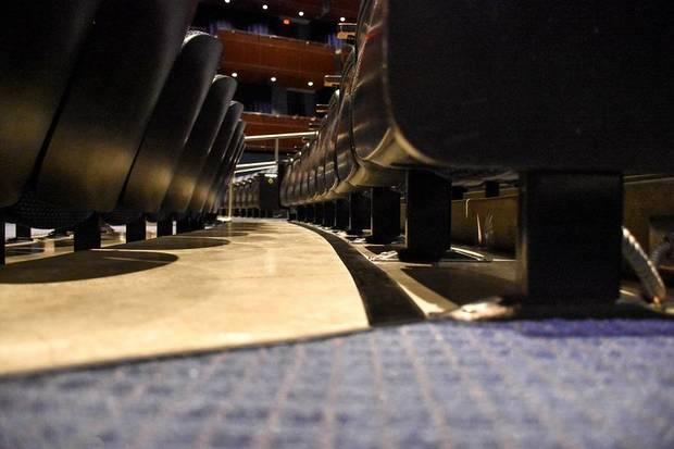 The Civic Center Music Hall is making improvements for patrons who use hearing aids with the installation of a new hearing loop system installed in the floor of its Thelma Gaylord Performing Arts Theatre. Photo provided