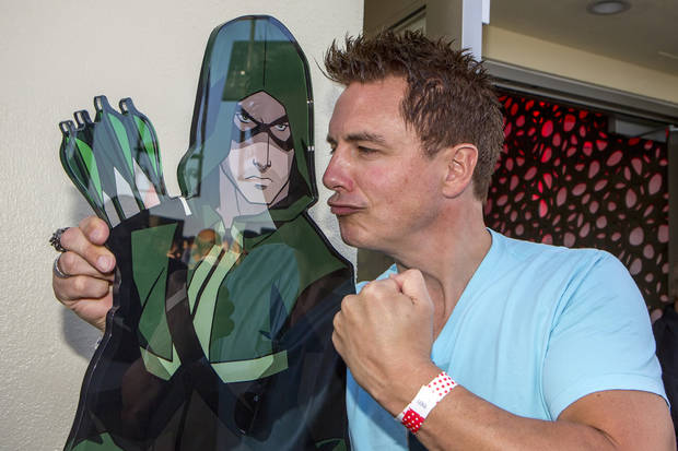 IMAGE DISTRIBUTED FOR BUZZFEED - John Barrowman of Arrow seen at BuzzFeed Superpower Hour presented by CW at Altitude Rooftop Bar at the Marriott on Friday, July 10, 2015, in San Diego, CA. (Photo by Christy Radecic/Invision for Buzzfeed/AP Images)