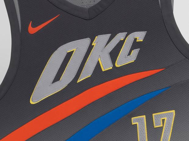 bd23255c6 Take a look at the Thunder s Nike  City Edition  uniform