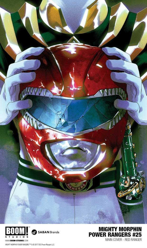 """Art from """"Mighty Morphin Power Rangers"""" #25."""