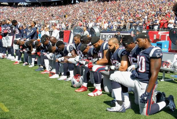N.F.L. Teams Will Be Fined for Players' Anthem Kneeling