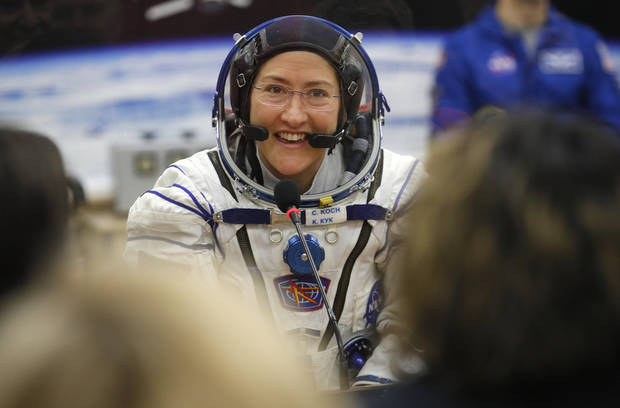 NASA's record-setting Koch, crewmates safely back from space