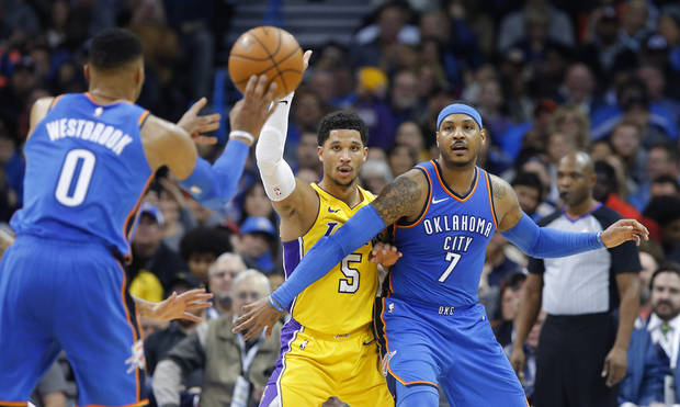 huge selection of ab73d cb4fa Russell Westbrook, Carmelo Anthony participate in Thunder ...