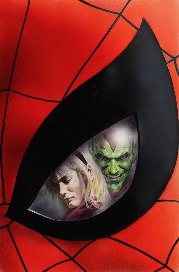 Alex Ross cover to Marvels #4