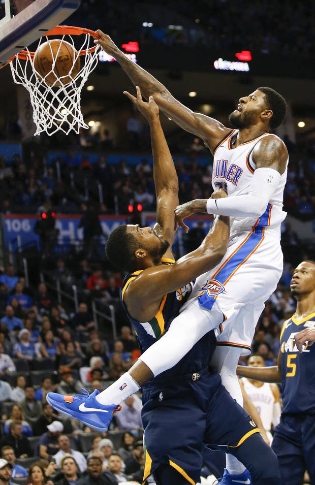Indiana pacers paul george dunk chungcuso3luongyen oklahoma citys paul george 13 dunks on utahs derrick favors 15 during voltagebd Image collections