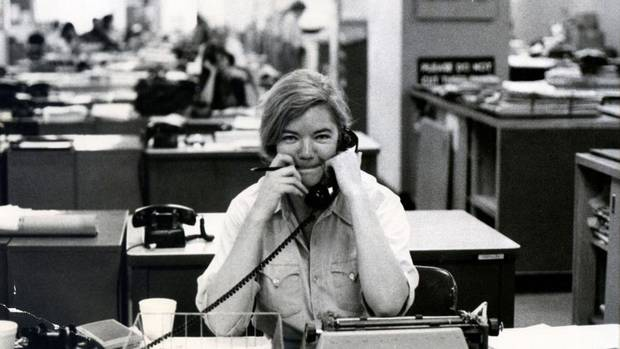 "Texas political commentator Molly Ivins is seen in the documentary ""Raise Hell: The Life and Times of Molly Ivins"" [Magnolia Pictures]"