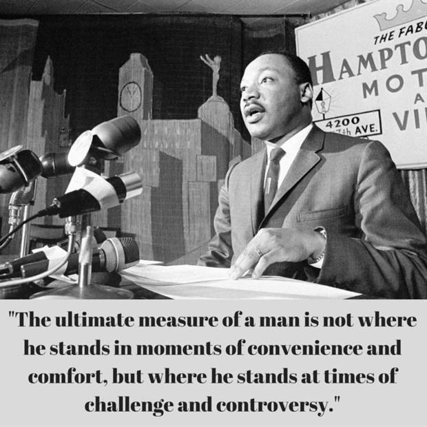 In the photo above, Dr. Martin Luther King talks during a news conference April 13, 1966 in Miami. [Associated Press photo] Quote from: <u>Strength to Love</u>, 1963.