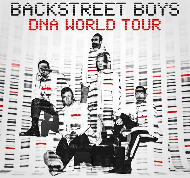 "The Backstreet Boys have announced a new album, ""DNA,"" and a tour for 2019. Poster image provided"