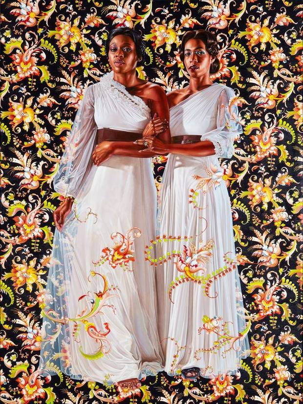 "Kehinde Wiley's 2012 painting ""The Two Sisters"" is featured in the exhibit ""Kehinde Wiley: A New Republic,"" on view at the Oklahoma City Museum of Art. Image provided"