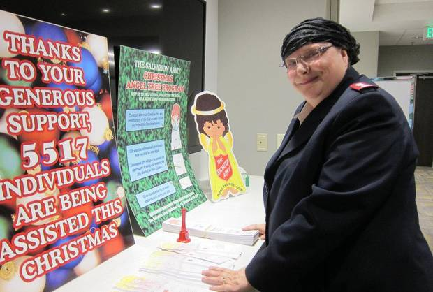 Salvation Army Maj. Charlotte Gargis poses for a picture in conjunction with a story about the faith-based organization's Angel Tree holiday program in November 2014.