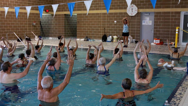 Tina Pastran takes advantage of the Y's pool supporting her therapy. Photo provided YMCA of Greater Oklahoma City.
