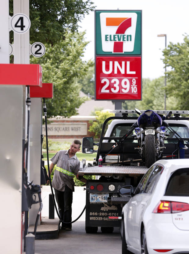 Summer gas prices are on the decline on Thursday, June 14, 2018 in Norman, Okla. Photo by Steve Sisney, The Oklahoman