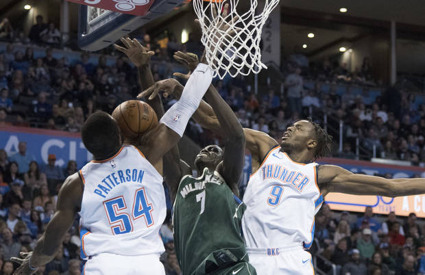 Who will start at power forward? Patrick Patterson or Jerami Grant? (AP Photo/J Pat Carter)