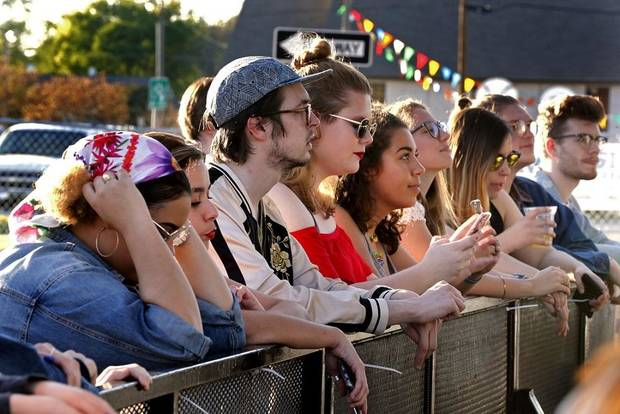 Fans listen as The Ivy performs during the Norman Music Festival on Friday, April 27, 2018 in Norman, Okla. [The Oklahoman Archives photo]