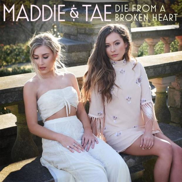 "Platinum-selling Oklahoma-Texas duo Maddie & Tae released their critically-lauded and fan stand-out new single ""Die From A Broken Heart"" to country radio today ahead of its May 6 official add date. Cover art provided"