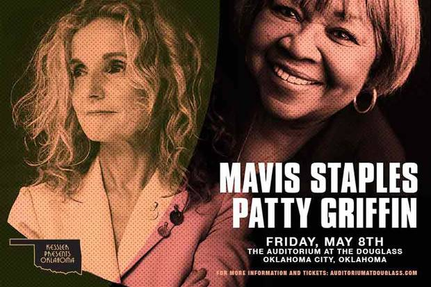 Mavis Staples and Patty Griffin's Oklahoma City concert originally scheduled for May 8 has been postponed to Oct. 23 amid the coronavirus pandemic. [Poster image provided]