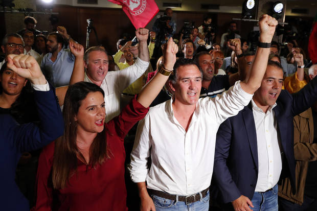 The Latest: Center-left Socialists win Portugal election