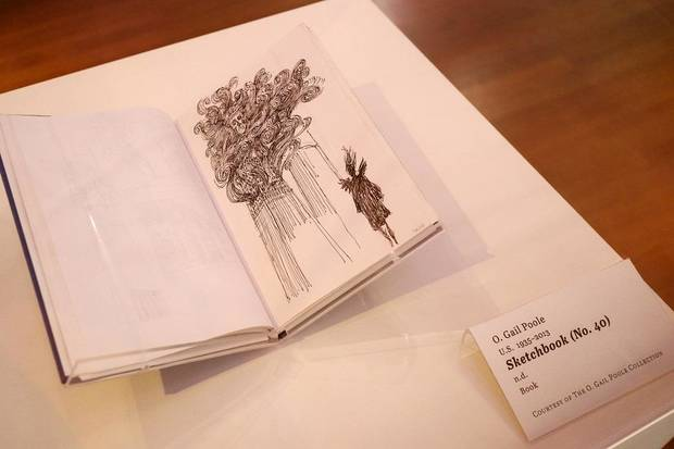 """Sketchbook #40"" from O. Gail Poole is shown at the Fred Jones Jr. Museum of Art, on the University of Oklahoma campus in Norman, Thursday, January 23, 2020. It is part of ""Sideshow,"" an exhibit of works by the late Oklahoma artist that will close Sunday following the museum's temporary closure due to the coronavirus pandemic. [Doug Hoke/The Oklahoman]"