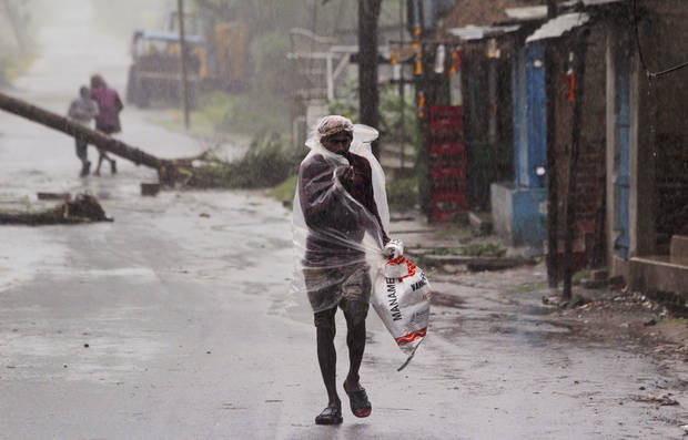 Cyclone left deaths, much destruction in India, Bangladesh