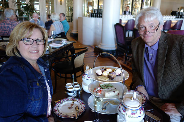 The Tramels enjoy High Tea at the Empress Hotel. (Photo by Empress Hotel)
