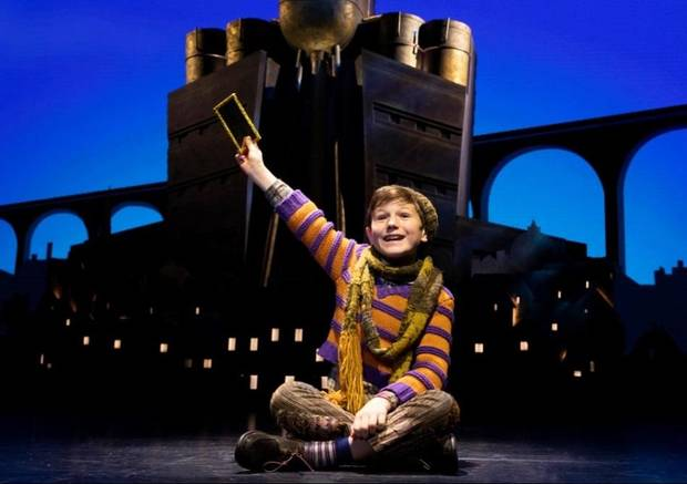 "Collin Jeffery appears as Charlie Bucket in Roald Dahl's ""Charlie and the Chocolate Factory."" [Joan Marcus photo]"