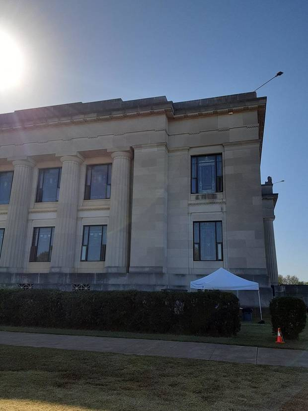 "The biopic ""Reagan"" is currently filming at the historic Scottish Rite Masonic Temple in Guthrie. [Brandy McDonnell/The Oklahoman]"