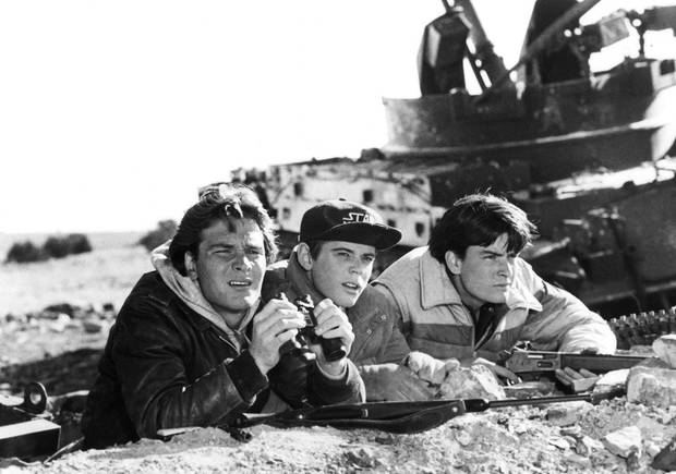 Patrick Swayze, C. Thomas Howell and Charlie Sheen took on the Ruskies with mixed results. Credit: MGM United Artists/AP.
